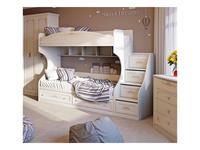Triya: Лючия: кровать двухъярусная 80х200  с приставной лестницей (штрихлак)