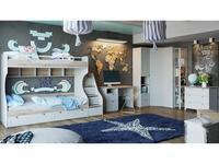 Triya: Ривьера: детская комната ГН-241.102 (дуб бонифацио, белый)
