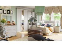 Triya: Ривьера: детская комната ГН-241.101 (дуб бонифацио, белый)