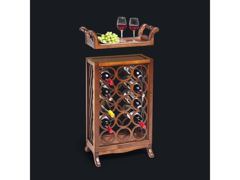 Zzibo Mobili: шкаф винный  со съемным подносом (орех)