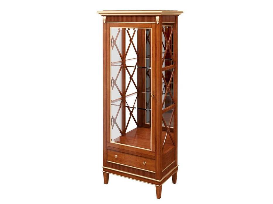 Zzibo Mobili: Verona: витрина 1 дверная  (орех с золотой патиной)