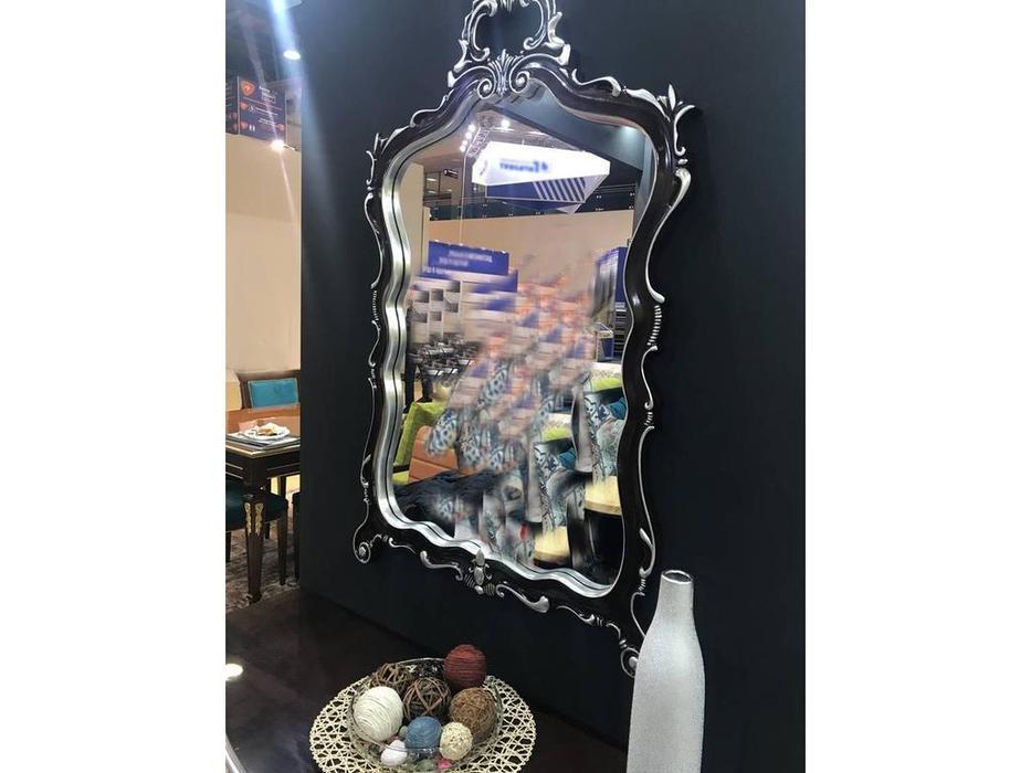 Zzibo Mobili: зеркало навесное  (шоколад, серебро)