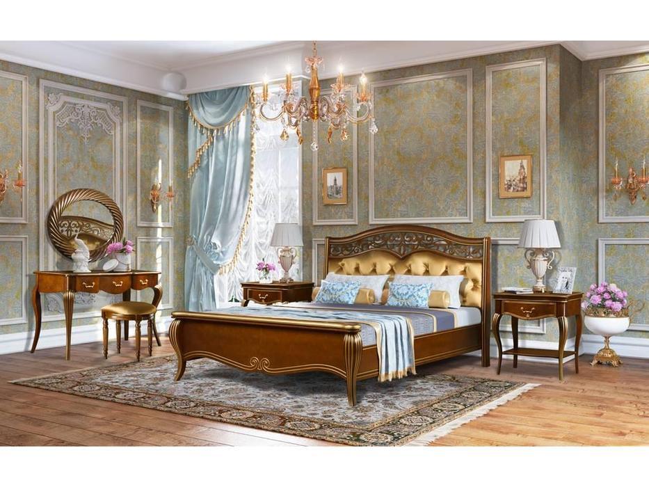 Zzibo Mobili: Патриция: спальная комната (орех, золото)