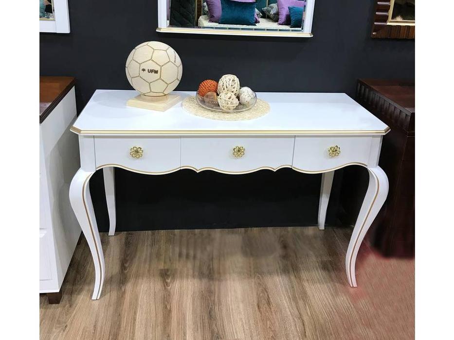 Zzibo Mobili: Патриция: стол туалетный  (белый, золото)