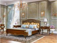 Zzibo Mobili: Патриция: кровать 160х200  ткань Arena Gold (орех, золото)