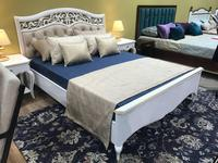 Zzibo Mobili: Патриция: кровать 160х200  белая кожа (белый, золото)