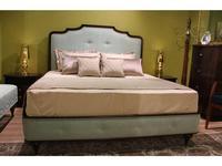 Zzibo Mobili: Оскар: кровать 160х200 ткань Velvet LUX (шоколад, ткань мятно-голубой)