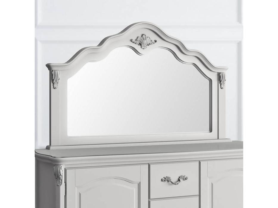 Latelier Du Meuble: Atelier Home: зеркало навесное  к комоду (серо-бежевый, серебро)