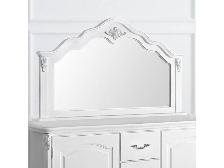 Latelier Du Meuble: Silvery Rome: зеркало навесное  к комоду (белый, серебро)