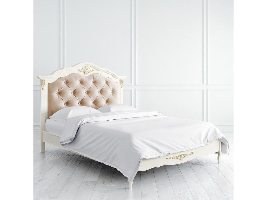 Latelier Du Meuble: Romantic Gold: кровать  140х200 (слоновая кость, золото)