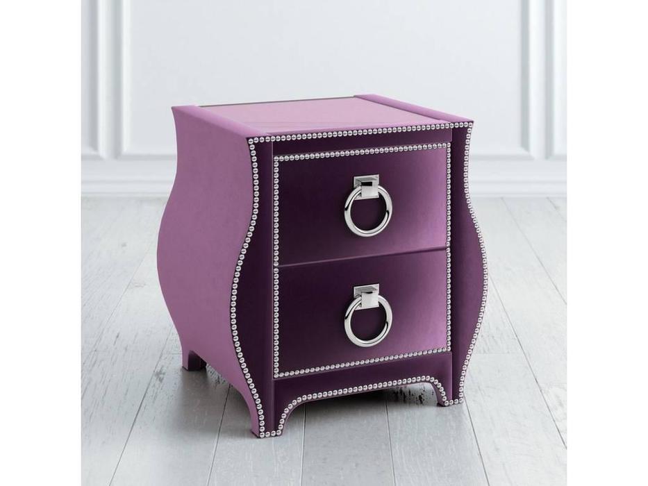 Latelier Du Meuble: тумба прикроватная  мягкая 2 ящика (фиолетовый)
