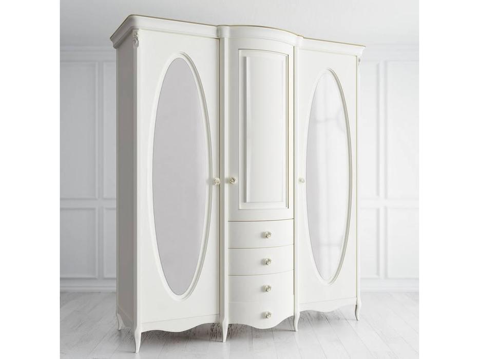 Latelier Du Meuble: Opera Rose: шкаф 3 дверный  (слоновая кость, золото)