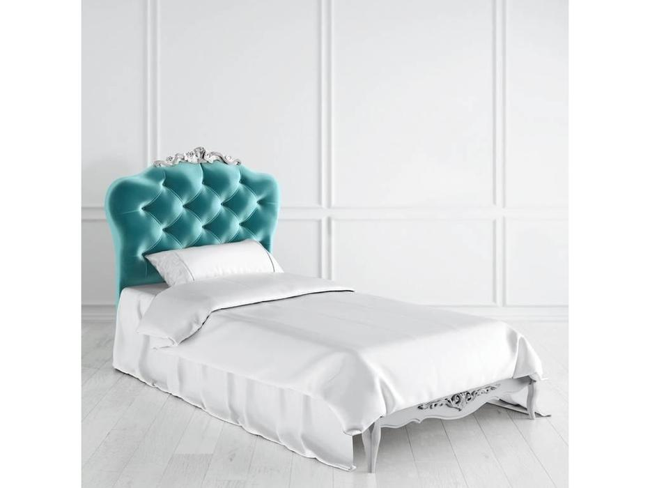 Latelier Du Meuble: Atelier Gold: кровать 90х190 (серо-бежевый, серебро)