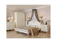 LAtelier Du Meuble: Romantic Golg: кровать 160х200  (слоновая кость, золото)