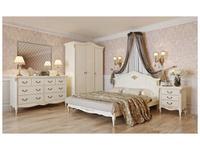 LAtelier Du Meuble: Romantic Golg: кровать 180х200  (слоновая кость, золото)