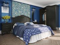 LAtelier Du Meuble: Nocturne: кровать двуспальная  160х200 (черный со старением)
