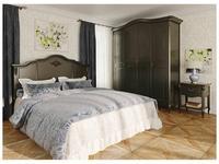 LAtelier Du Meuble: Nocturne: кровать двуспальная  180х200 (черный со старением)