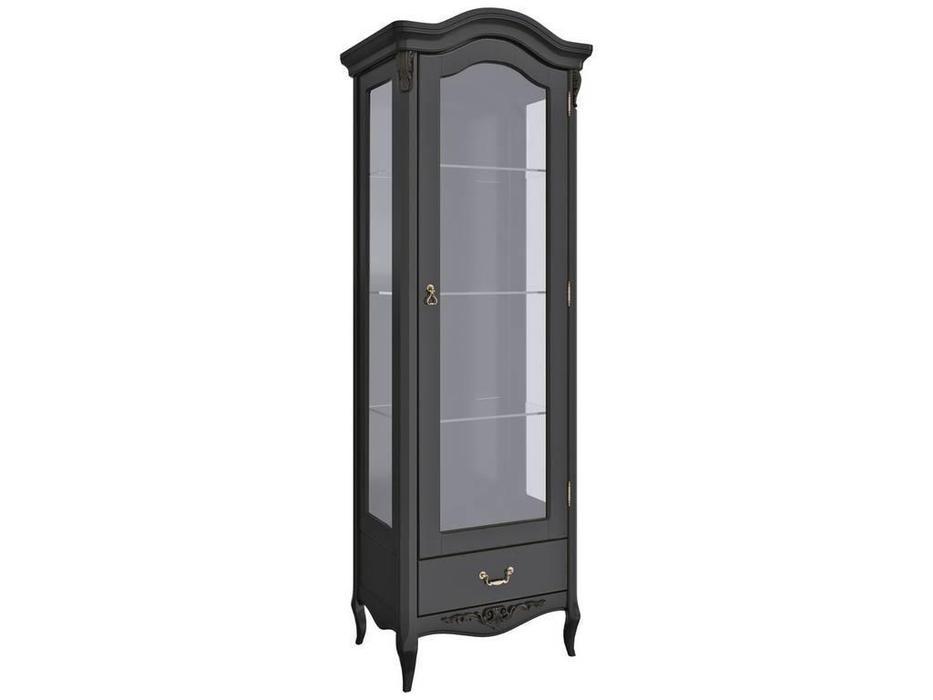 LAtelier Du Meuble: Nocturne: витрина 1 дверная  правая (черный со старением)