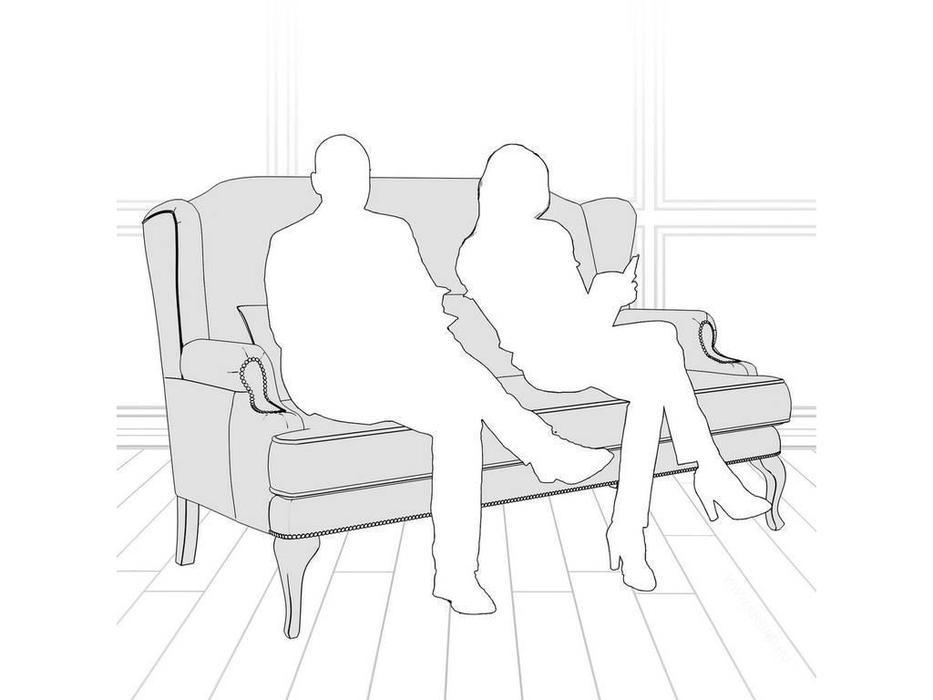 LAtelier Du Meuble: Френсис: диван 2 местный  (голубой, белый)