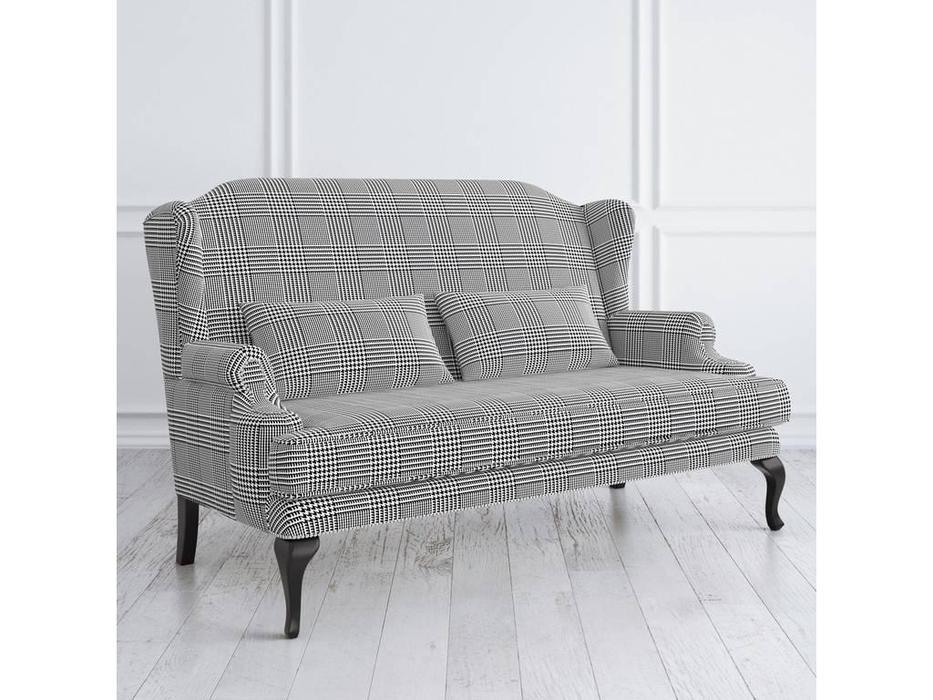 LAtelier Du Meuble: Френсис: диван 2 местный  (серый клетка, черный)