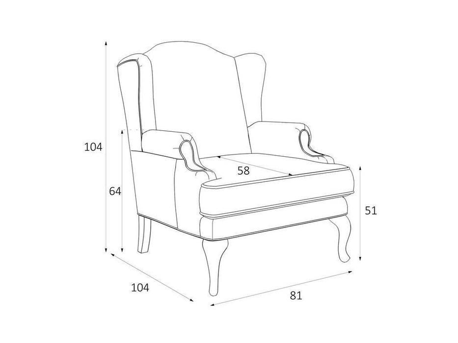 LAtelier Du Meuble: Френсис: кресло  (серый клетка, черный)