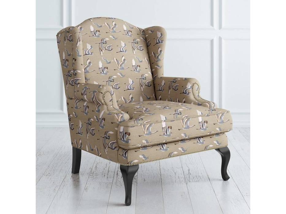 LAtelier Du Meuble: Френсис: кресло  (бежевый птицы, черный)
