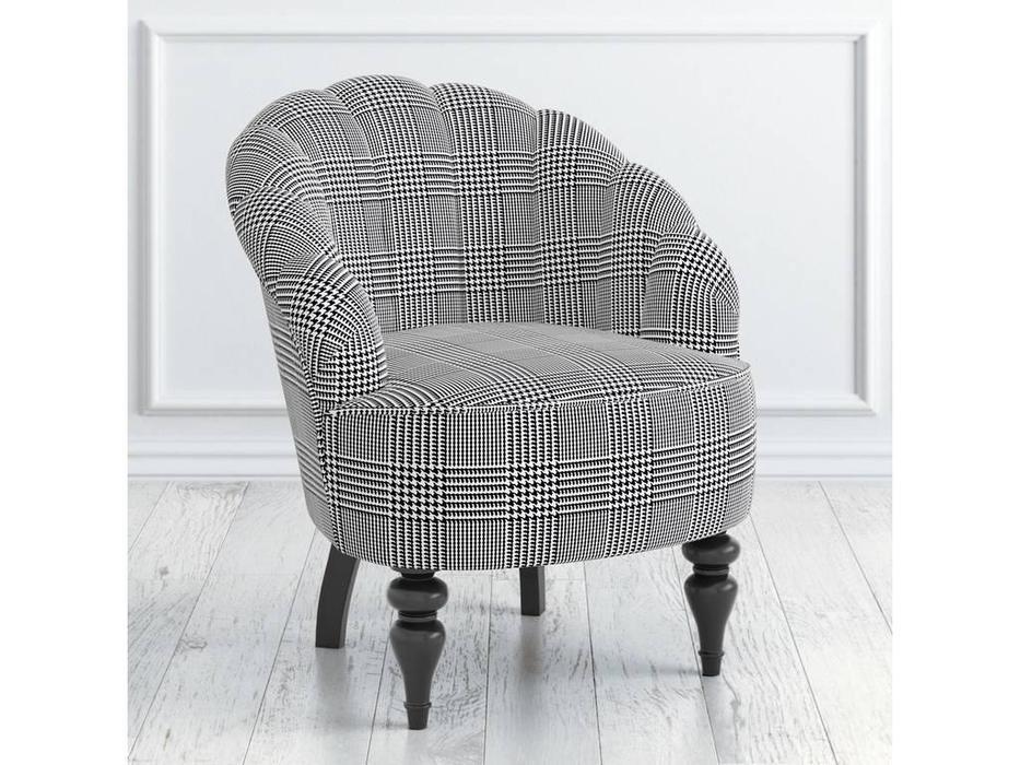 LAtelier Du Meuble: Шелли: кресло  (серый клетка, черный)