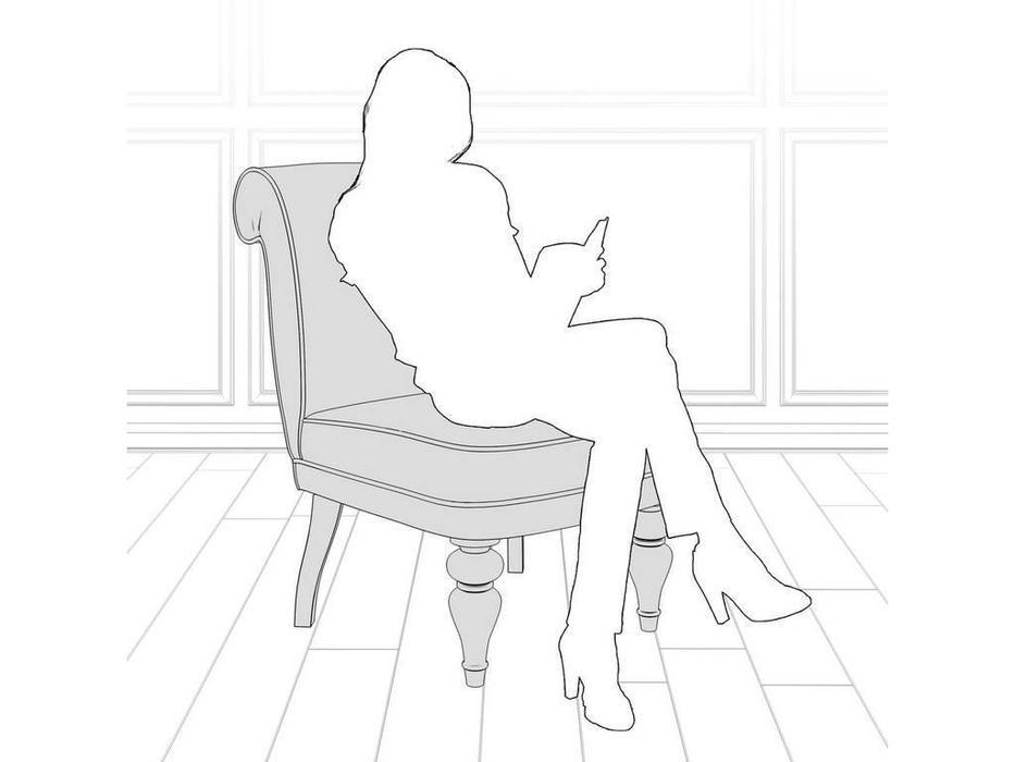 LAtelier Du Meuble: Лира: кресло  (серый клетка, черный)