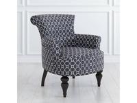 LAtelier Du Meuble: Перфетто: кресло  (серый арнамент, черный)