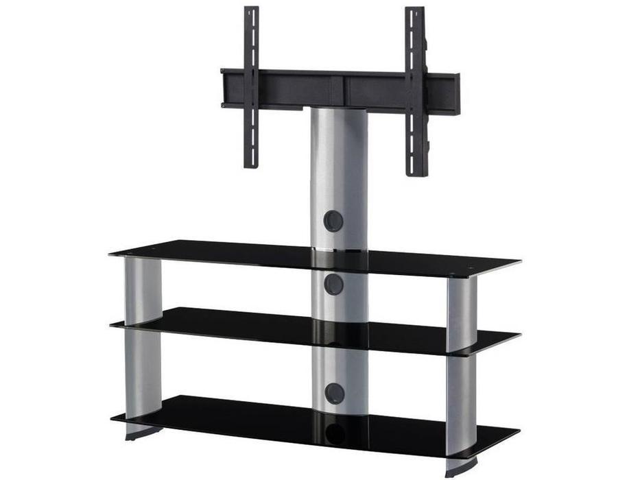 Sonorous: PL 2130: тумба под телевизор  (черное стекло, серебро)