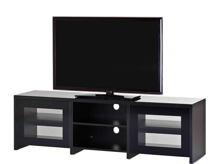Sonorous: LB 1620: тумба под телевизор  (черное стекло, черный)