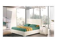 Cinova: Cleo: кровать  160х200 с подъемным мех-м (белый)