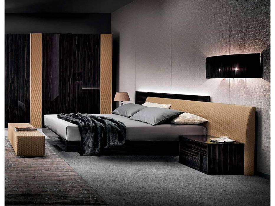 Rossetto: Nightfly: кровать 180х200  (ebony, nocciola)