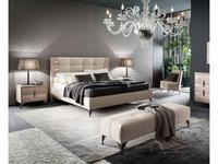 Rossetto: Dune: кровать 160х200  (glossy perla frise, nabuk beige)