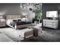 Rossetto: Dune: кровать 180х200  (glossy perla frise, nabuk beige)
