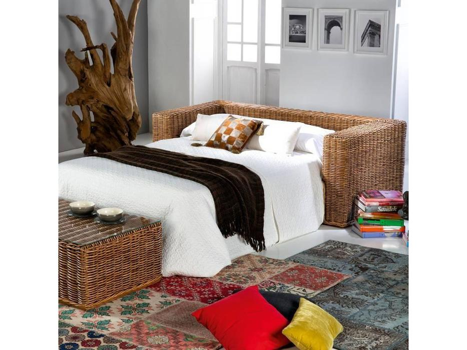 Joenfa: Calpe: диван-кровать  с подушкой (rattan A.A)