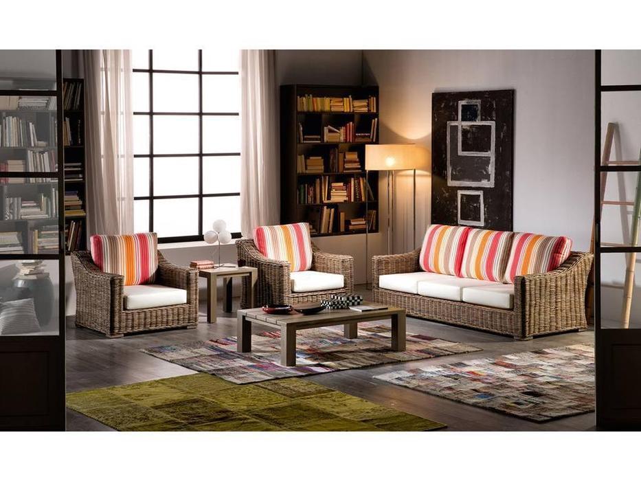 Joenfa: Nikko: комплект мягкой мебели (rattan kubu grey)
