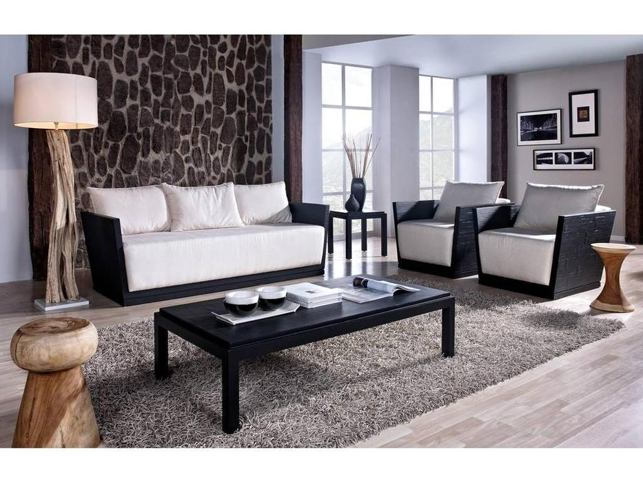 Joenfa: Alex: диван 3-х местный  (bamboo black matt)