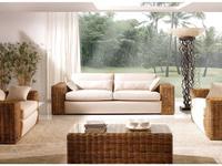 Joenfa: Carneige: диван 3-х местный  с подушкой (rattan A.A)