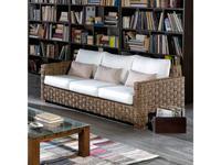 Joenfa: Porto Cristo: диван 3-х местный  с подушкой (abaca nat. A)
