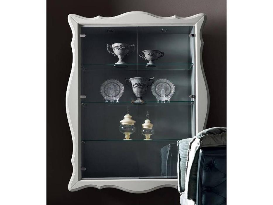 Corte Zari: Alice: витрина навесная  2 дв. (bianco lucido)