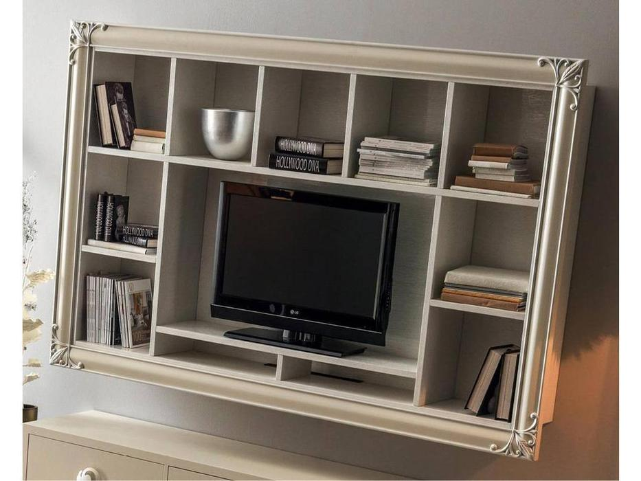 Corte Zari: Clara: стеллаж навесной  с нишей для ТВ (rovere sabbiato sable)