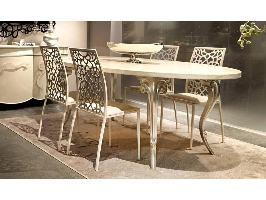 Corte Zari: Antares: стол обеденный  (rovere sabbiato avorio)