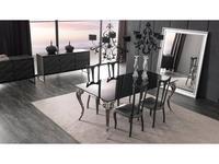 Corte Zari: Antares: стол обеденный  (laccato nero)