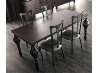 Corte Zari: Zoe: стол обеденный  (sabbiato cenere)