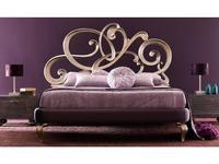 Corte Zari: Viola Soft: кровать 160х200  (foglia argento melange)