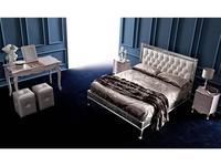 Corte Zari: Clara: кровать 165х190  (foglia argento lucido)