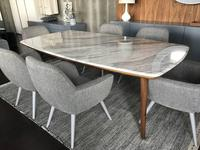 Vanguard: Helsinki: стол обеденный (шпон орех, мрамор)