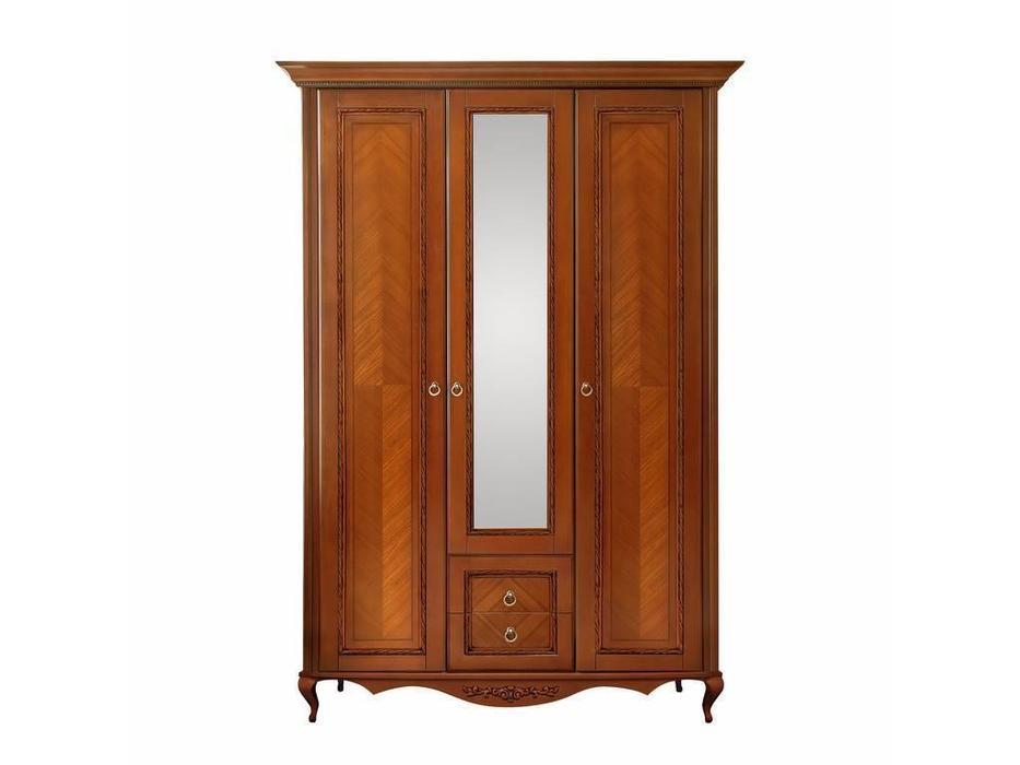 БМ: Неаполь: шкаф 3-х дверный  (янтарь)