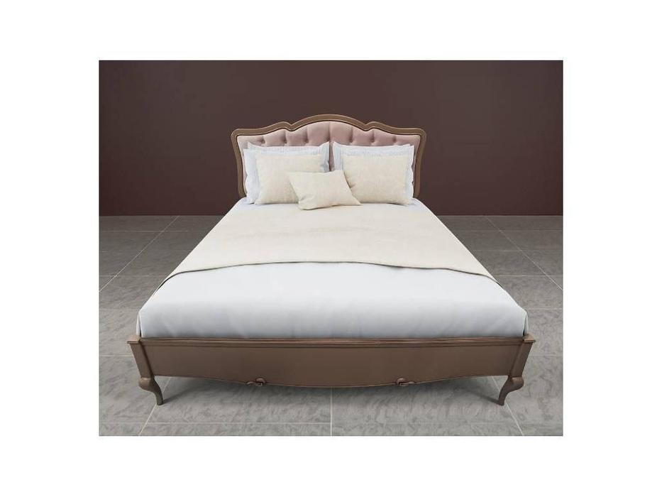 БМ: Портофино: кровать 180x200  с мягким изголовьем (кварц)